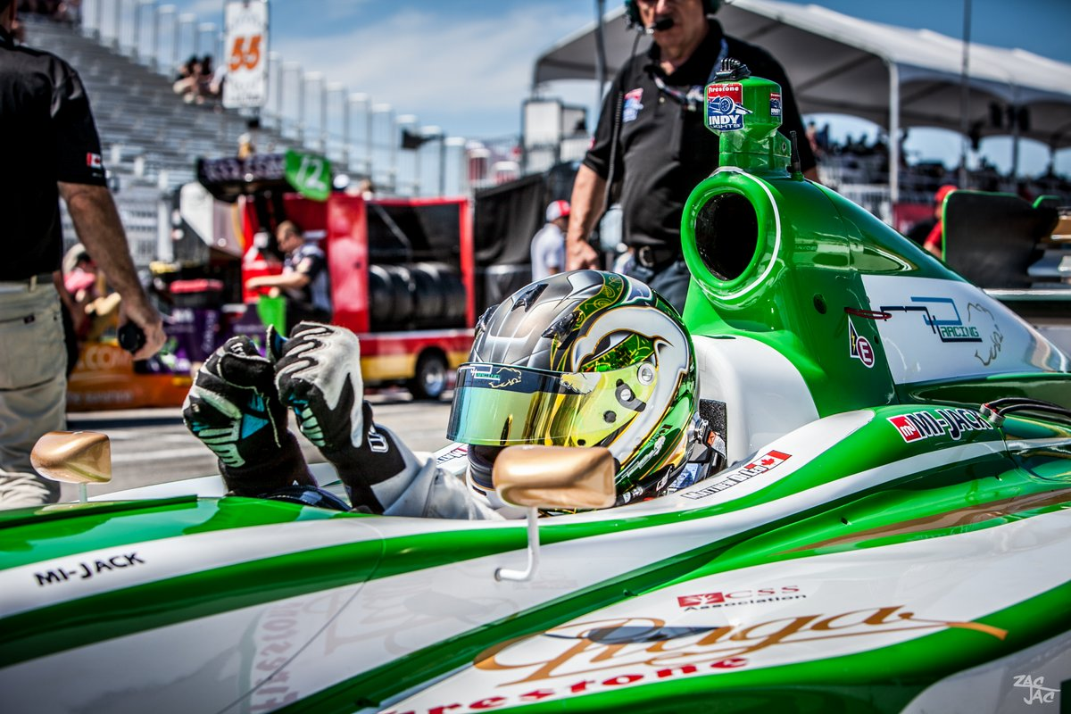 Praga-Sponsored Driver Matthew Di Leo at the Toronto Indycar Race