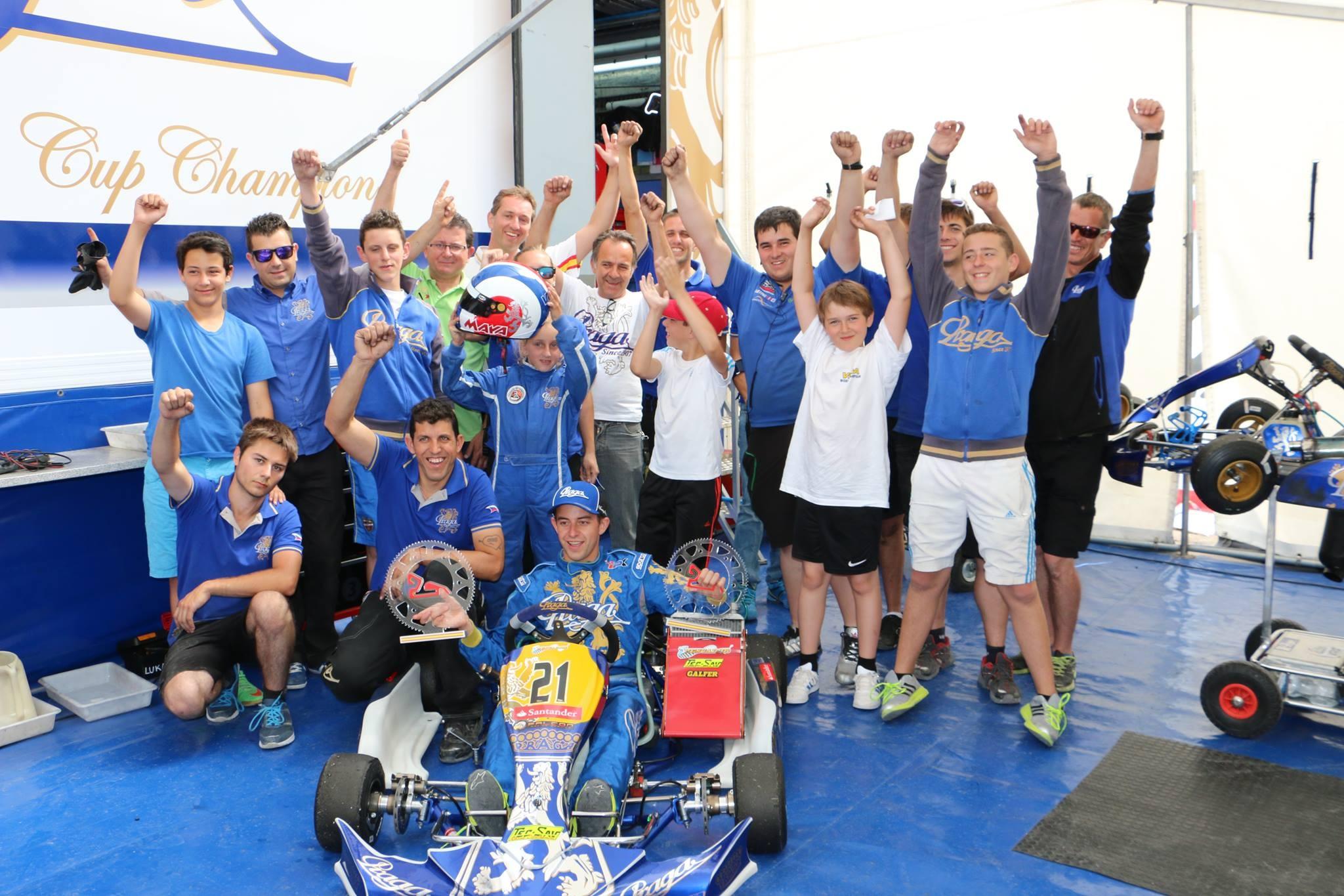 Spain Championship Campillos 1st round Praga won in KZ2 category
