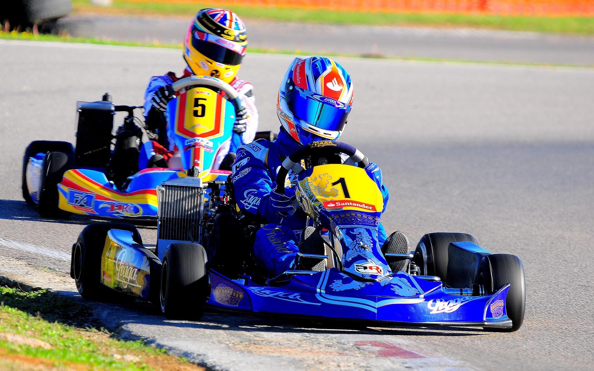 Eliseo Martinez factory pilot of Praga Kart Racing