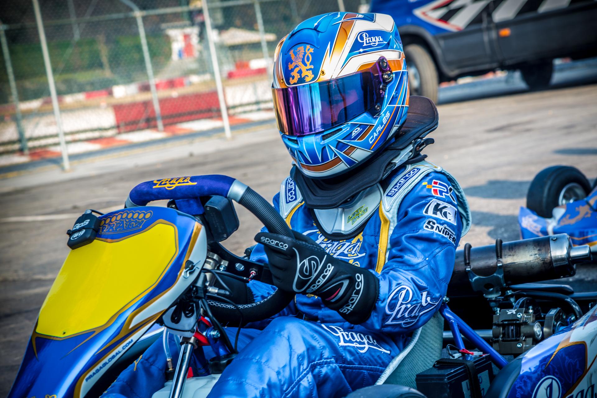 Big test of factory team Praga Kart Racing