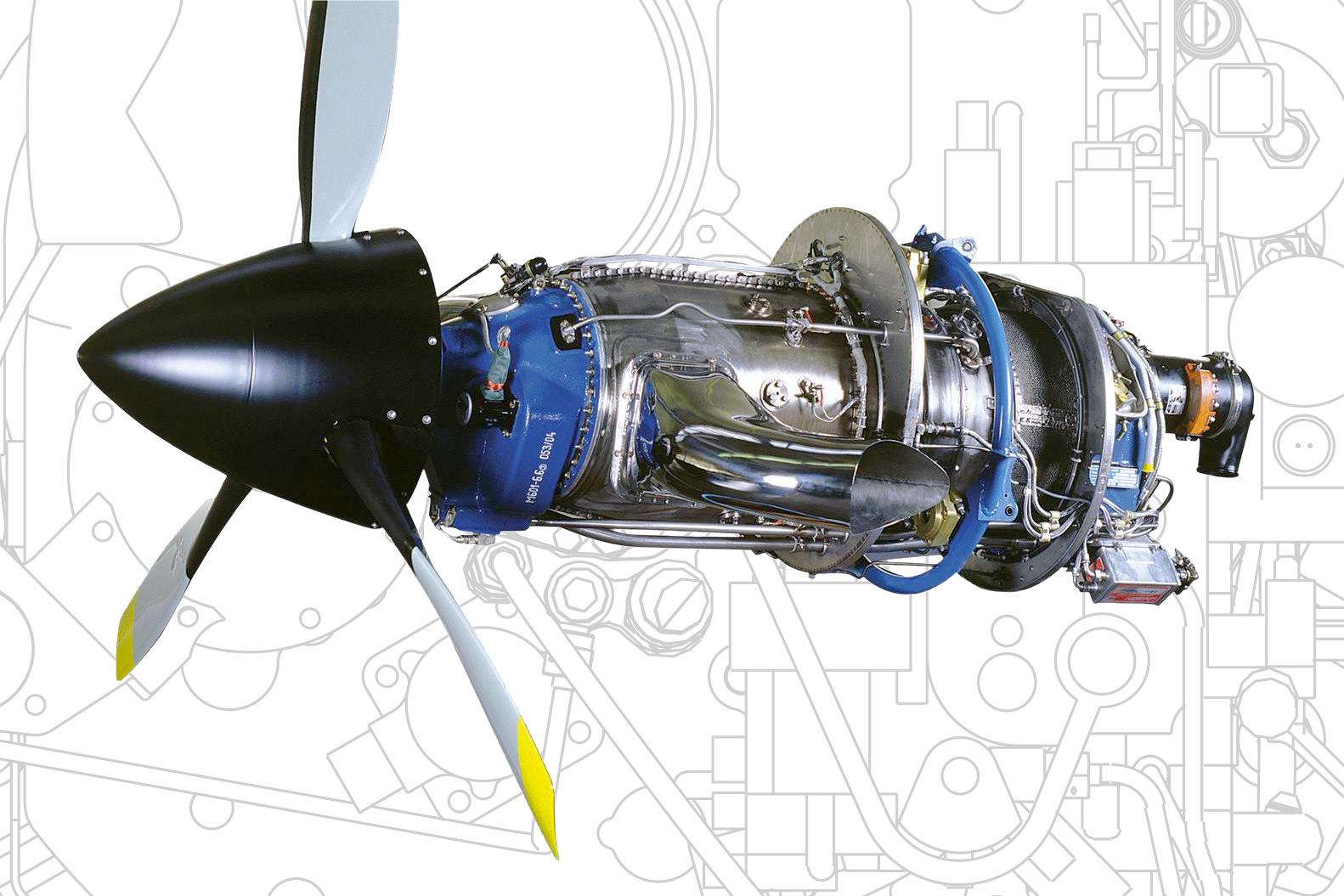 GE H80 Turboprop Engine  by GE Aviation Czech