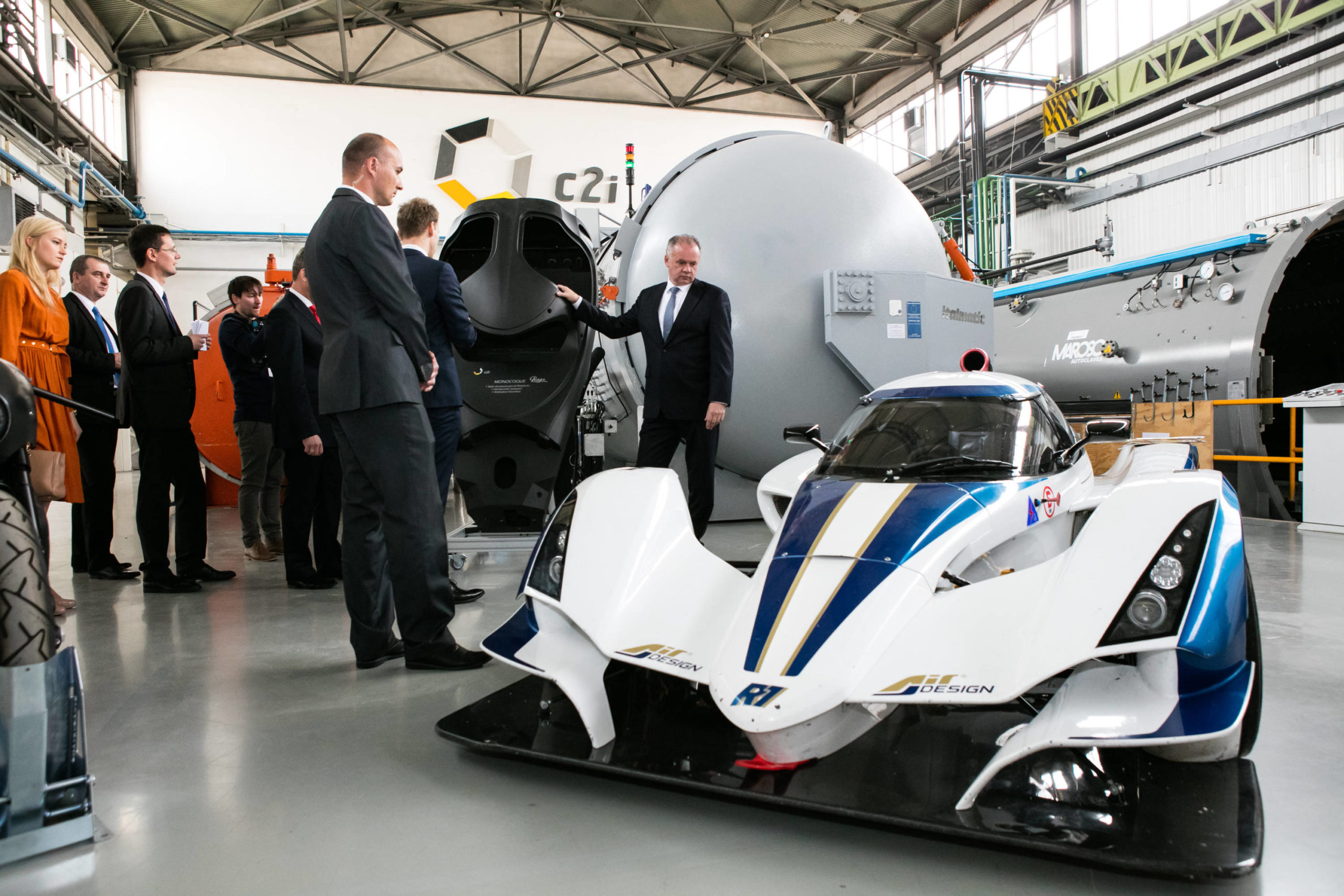 The President of Slovakia Andrej Kiska in Praga R1