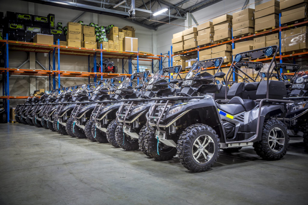 IPK factory supplied Czech police forces with customized quad bike ...