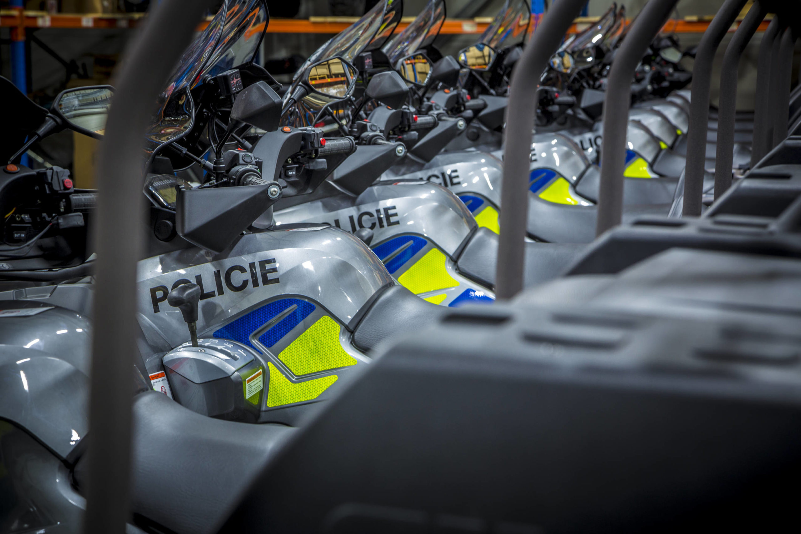 IPK factory supplied Czech police forces with customized quad bike frames