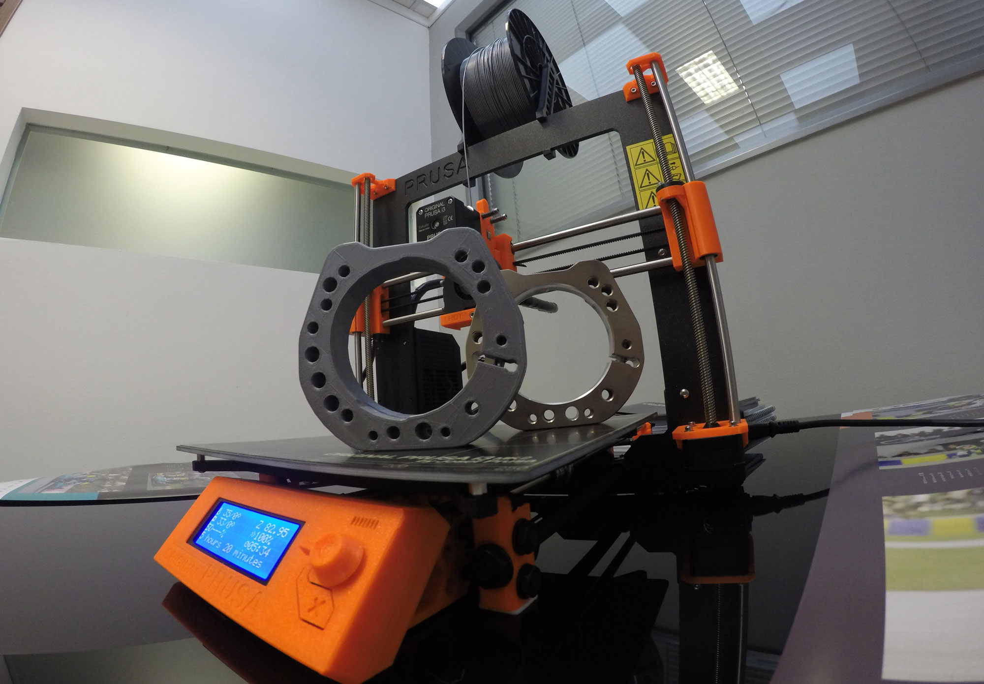 Prototypes of karting accessories using a 3D printer
