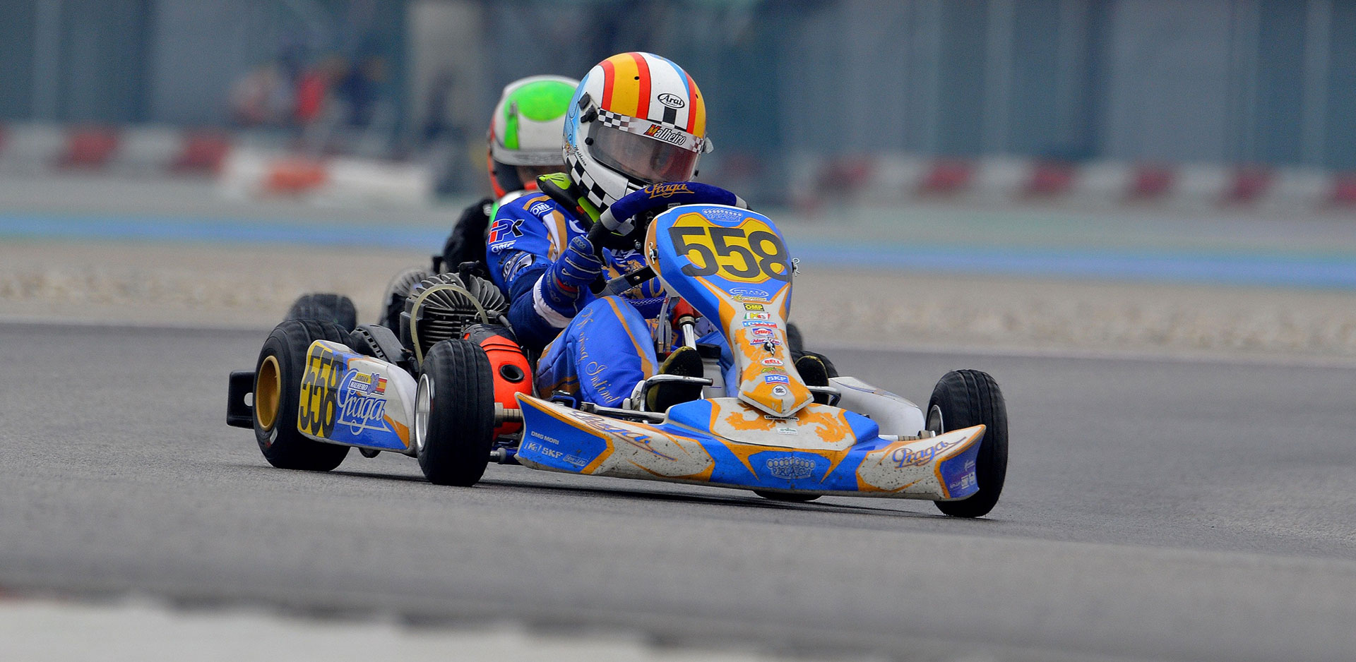 14 IPKarting chassis at the start of the WSK Super Master Series