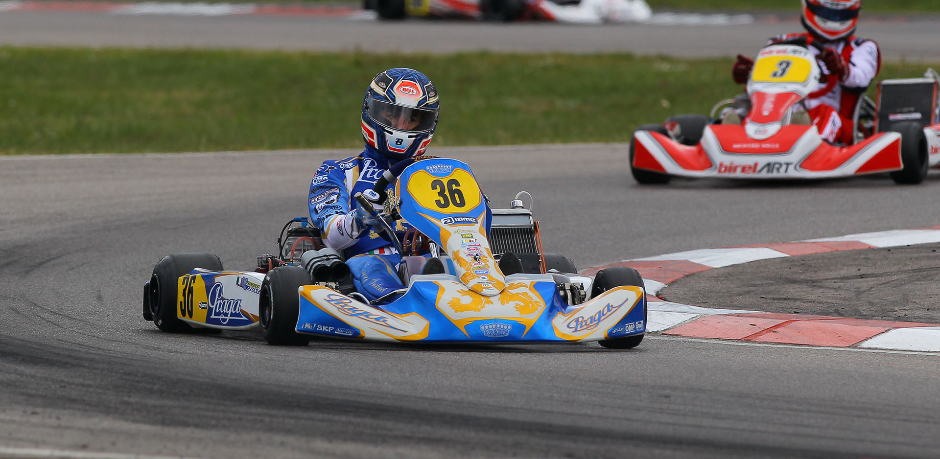 Pollini one of the front runners at the KZ2 FIA karting European Championship