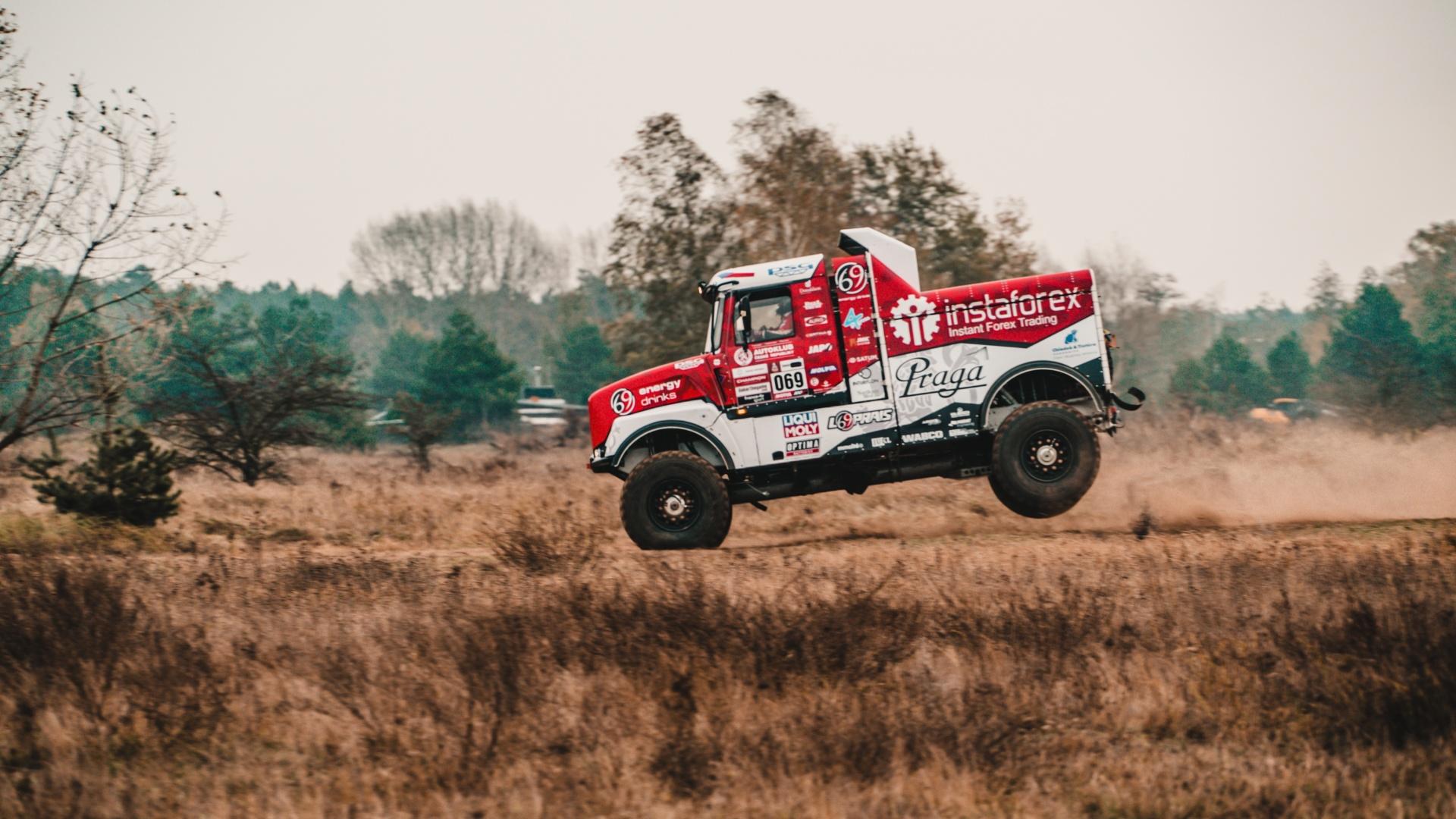 Loprais testing Praga V4S DKR for Dakar 2020