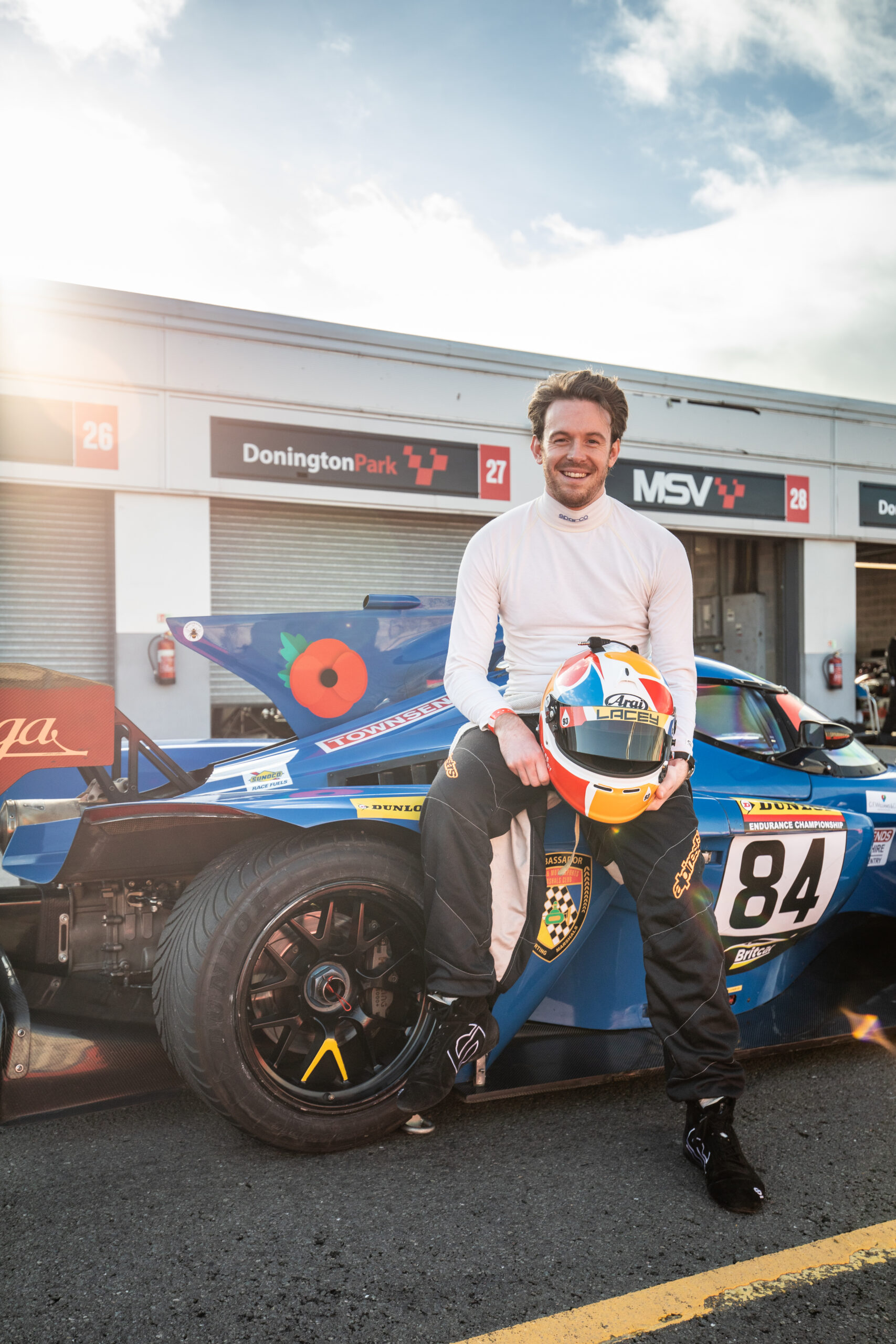 MILES LACEY BECOMES SMILES LACEY AS HE TESTS THE TURBO PRAGA R1 FOR SUPERCAR DRIVER