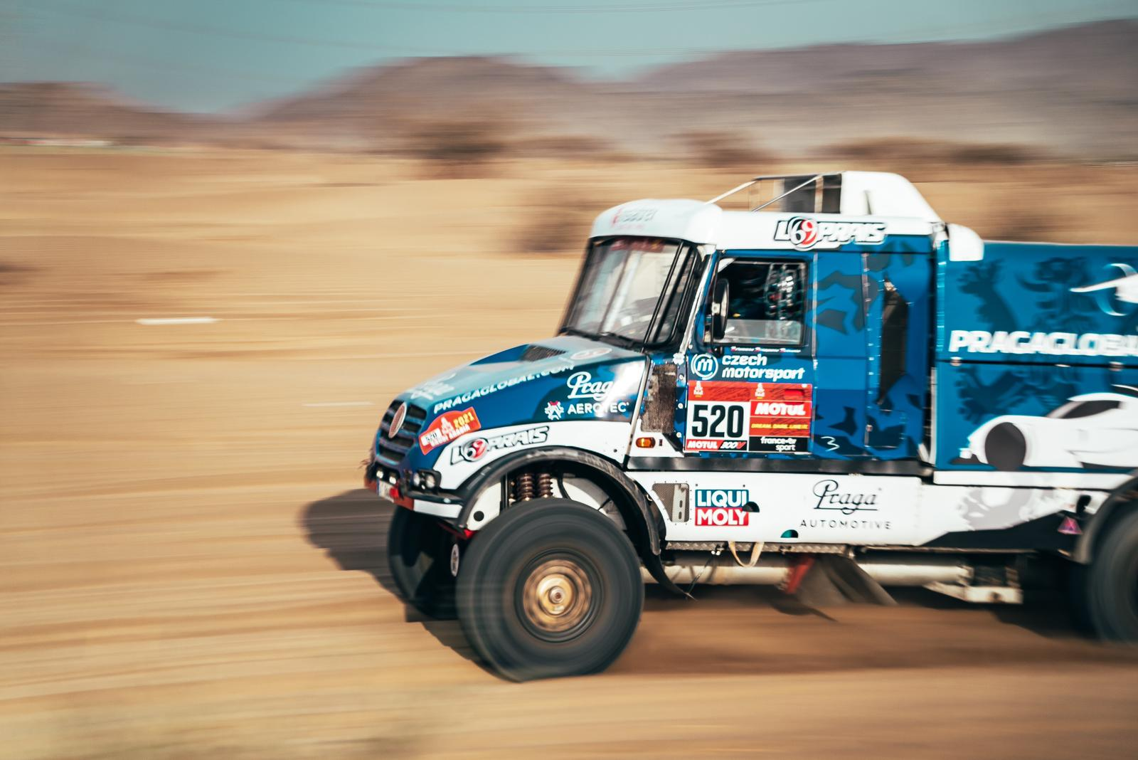 Dakar 2021: Successful shakedown for both trucks and three drivers of the Instaforex Loprais Praga Team